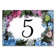 Hydrangea Flower Frame Table Numbers Table Cards