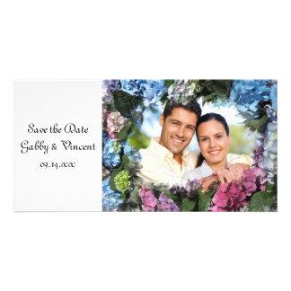 Hydrangea Flower Wedding Save the Date Photo Card