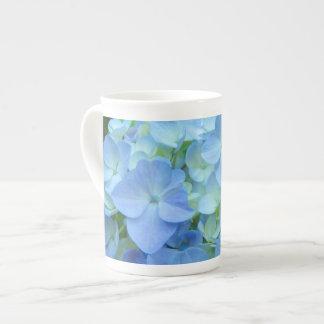 Hydrangea Flowers Blue Bone China Mug