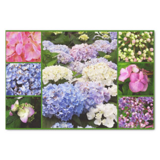 Hydrangea Flowers Collage-TISSUE WRAPPING PAPER