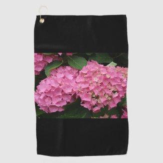 Hydrangea Flowers golf towel