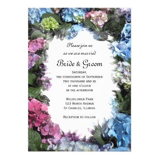 hydrangea frame wedding invitation 5 x 7 invitation card zazzle