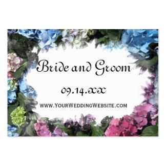Hydrangea Frame Wedding Website Large Business Card