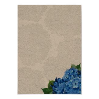 Hydrangea Garden Romance Blank Kraft Card