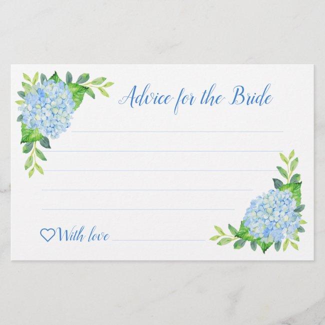 Hydrangea Geometric Bridal Shower Advice Cards