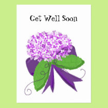 Hydrangea Get Well Soon Postcard