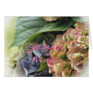 Hydrangea Get Well Wishes- or any occasion Card