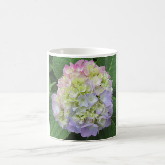 Hydrangea Green Pink Blue Flower Magic Mug