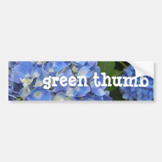 Hydrangea, Green-Thumb Car Bumper Sticker