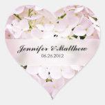 Hydrangea Heart Wedding Sticker