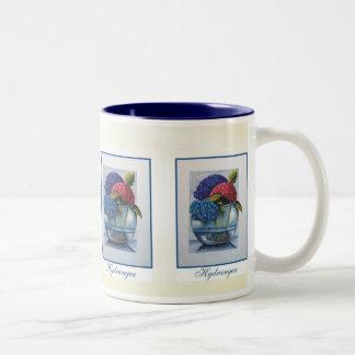 Hydrangea in bowl mug