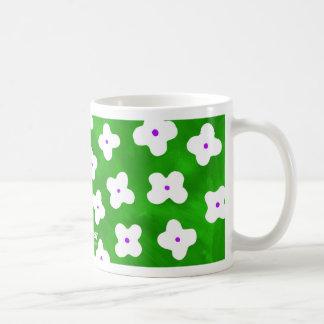 Hydrangea in Green Coffee Mug