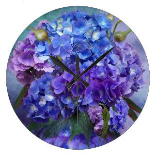 Hydrangea In Hydrangea Vase Art Wall Clock