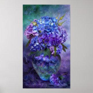 Hydrangea In Hydrangea Vase Poster/Print Poster