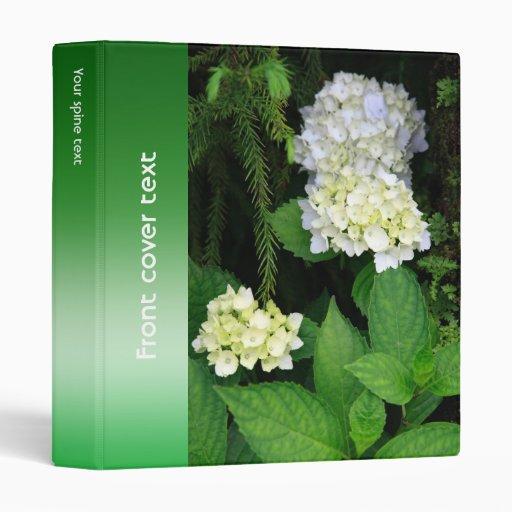 Hydrangea in the forest binder