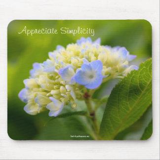 Hydrangea Inspirational Simplicity Mousepad
