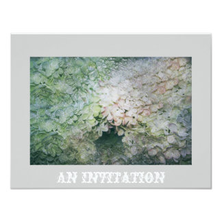 """Hydrangea Invitation 4.25"""" X 5.5"""" Invitation Card"""