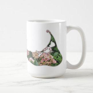 Hydrangea Map of Nantucket Island, Massachusetts Classic White Coffee Mug