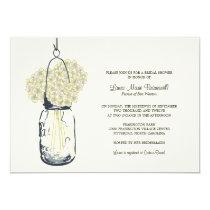 Hydrangea & Mason Jar Bridal Shower 5x7 Paper Invitation Card