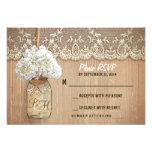 hydrangea mason jar rustic wedding RSVP cards