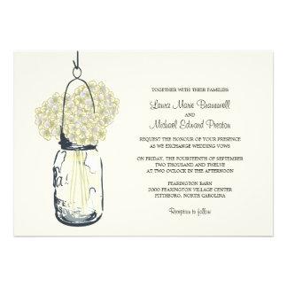 Hydrangea Mason Jar Wedding Invitations