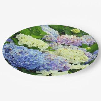 Hydrangea Mix, Floral-Paper Party Plates