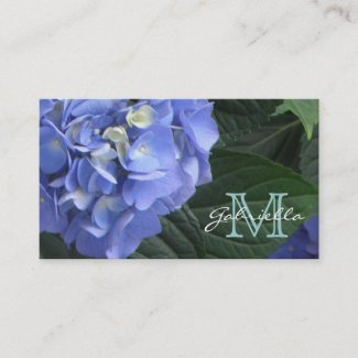 Hydrangea: Monogram Business Cards