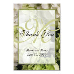 Hydrangea Monogram Personalized Thank You Card