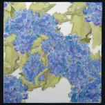 "Hydrangea Napkin<br><div class=""desc"">watercolor hydrangea pattern from original art.</div>"