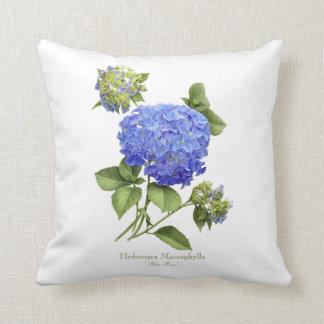 "Hydrangea ""onda azul "" cojin"