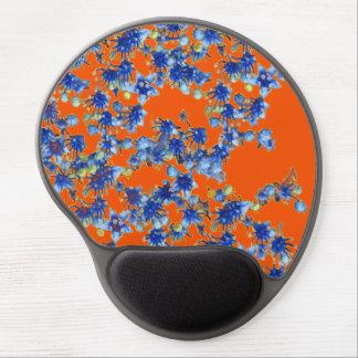 hydrangea orange and blue gel mouse pad