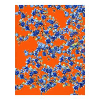 hydrangea orange and blue letterhead