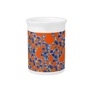 hydrangea orange and blue pitcher