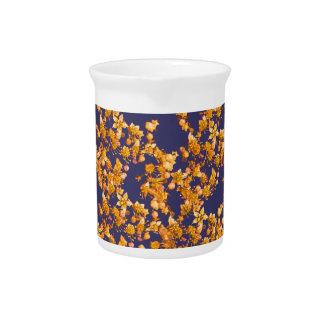 hydrangea orange and navy pitchers