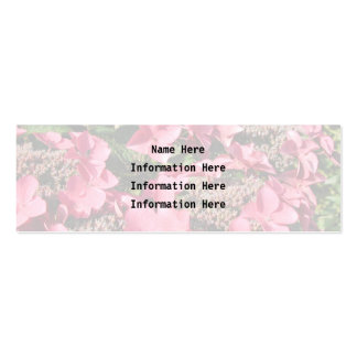 Hydrangea. Pink Flowers. Business Card Template