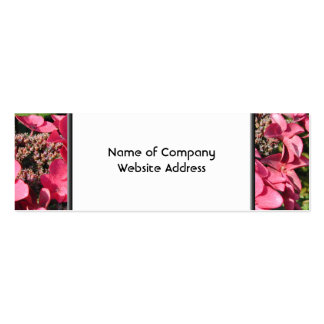 Hydrangea. Pink Flowers. Business Card Templates