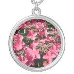 Hydrangea. Pink Flowers. Custom Necklace