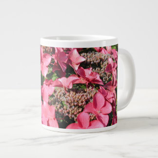 Hydrangea. Pink Flowers. Giant Coffee Mug
