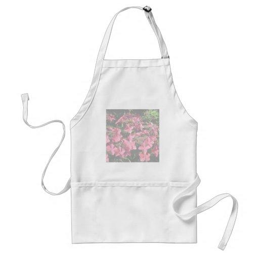 Hydrangea. Pink flowers. Soft Pastel Colors. Adult Apron