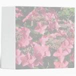 Hydrangea. Pink flowers. Soft Pastel Colors. Binder