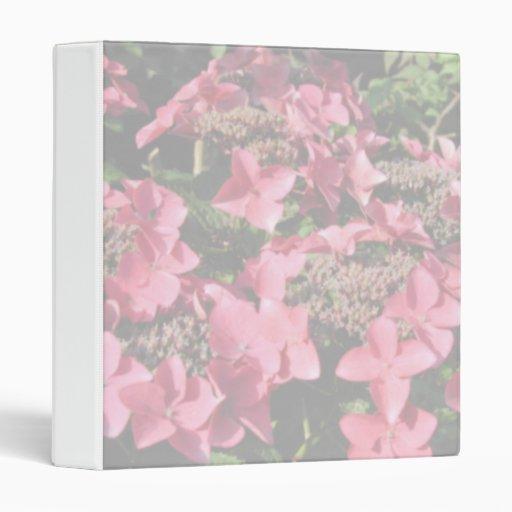Hydrangea. Pink flowers. Soft Pastel Colors. Vinyl Binders