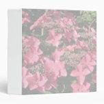 Hydrangea. Pink flowers. Soft Pastel Colors. Vinyl Binder
