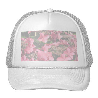 Hydrangea. Pink flowers. Soft Pastel Colors. Trucker Hats