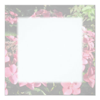 Hydrangea. Pink flowers. Soft Pastel Colors. 5.25x5.25 Square Paper Invitation Card