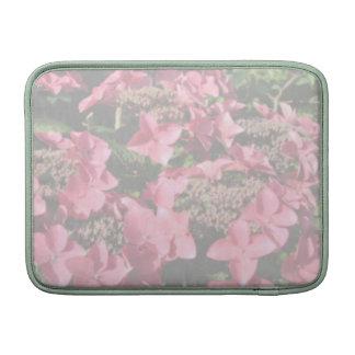 Hydrangea. Pink flowers. Soft Pastel Colors. MacBook Sleeves