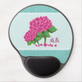 """Hydrangea pink """"Growth"""" Gel Mouse Pad"""