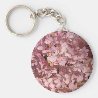 Hydrangea pink keychain