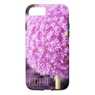 Hydrangea pink Monogram iPhone 8/7 Case