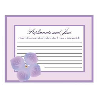 Hydrangea programable de la púrpura de la tarjeta  postales
