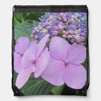Hydrangea Purple Blooming Flower Backpacks
